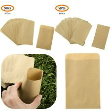 50x_ Mini Kraft Paper Bags Hybrid  Corn Farm Pollen Bag  Packets Pouch