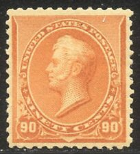 U.S. #229 Mint VF BEAUTY - 1890 90c Orange ($450)