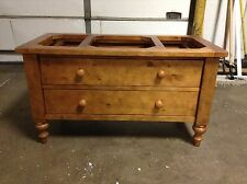 Pottery Barn Ashby Base Coffee Table TV Media Cabinet Stand storage Drawer bench