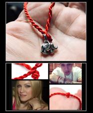 Om Elephant Red String of Faith Protection Love Lucky Kabbalah Minimal Bracelet