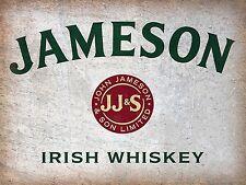 Jameson Irish Whisky, Retro Aluminium Sign, Gift, Man Cave, Bar/Pub