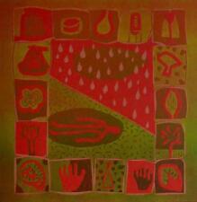 """Dale Devereux Barker limited edition linocut """"Weeping Landscape"""" signed & dated"""