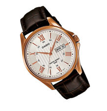Casio MTP1384L-7A Day Date Analog Quartz White Dial Leather classic Gent's Watch