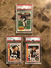 Raiders PSA 7/8 lot 3 SB champs. 1976 Topps Ken Stabler. Monte Johnson. D. Dalby