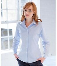 Button Cuff Sleeve Classic Fit Shirts for Women