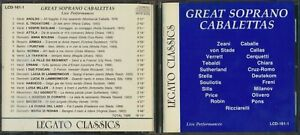 Legato Classics - Great Soprano Cabalettas - Live Performances LCD-161-1 CD