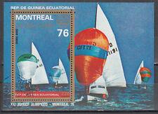 Guinea Ecuatorial-Block 209/Olympia 1976 Montreal/Sailing finndingi