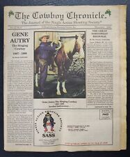 The Cowboy Chronicle 1998 Special GENE AUTRY Single Action Shooting Society