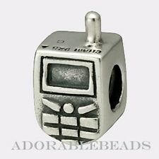 Authentic Chamilia Sterling Silver Cell Phone Bead GA-72 *RETIRED*