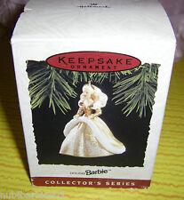 1994 Happy Holidays Barbie #2 Hallmark Ornament NRFB MIB Box dented from storage