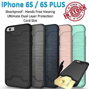 iPhone 6S Case 6S Plus Armor Phone Cover Kickstand Shockproof Tradesman Card