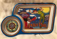 Vintage Peter Pan Child's Food Tray Eating Disney Captain Hook