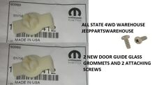 2 EA Jeep Door Glass Window Regulator Grommet & Screws CJ7 CJ8 Wrangler YJ TJ