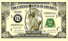 """One Million Dollars 3x5 Whip Flag 1/2"""" White Pole with Mount Bolt UTV Sandrail"""
