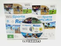 Nintendo Wii Sports + Wii Sports Resort Game Complete with Manual & Mint Disc