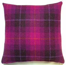 Plush Purple and Orange 'Harris Tweed' Cushion Cover by Anderson Castle Design
