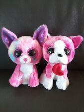 Ty Beanie Boos Cancun & Romeo Dog Lot Of 2 Plush Animals