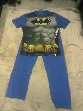 blue BATMAN pj set M short sleeve t shirt+long trousers chest 39-41 W 33-35 inch