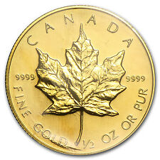 1986 1/2 oz Gold Canadian Maple Leaf Coin - SKU #82843