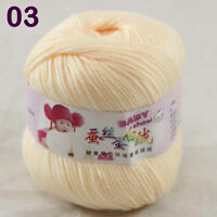 Sale 1 ball x50g Baby Cashmere Silk Wool Children hand knitting Crochet Yarn 03