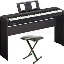 Yamaha P45 B Digital E-Piano Klavier mit L 85 Holzgestell + Sitz Bank + Zubehör
