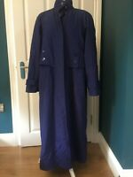 vintage a2b blue single breasted lightweight long trench raincoat size M/L