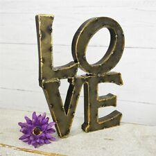 Tin Stacked LOVE Rustic Sign