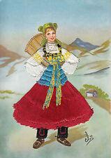 66) Piemonte - Cartolina ricamata a mano