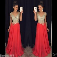 Women Long Formal Prom Dresses Cocktail Party Ball Gown Evening Bridesmaid Dress