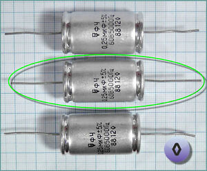 Russian Teflon Capacitor FCH 0.25uF 250nF 60V ◊ Rhomb (Diamond) 1pc. or more