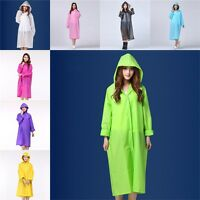 One Size Ladies PVC Raincoat Hooded Rain Coat Raincoats Waterproof Windproof