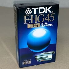 TDK E-HG45 Extra High Grade VHS C PAL Secam Camcorder Blank Tape Sealed B211