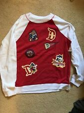 NWT Women's Disneyland Retro Collegiate Patches Sweatshirt XL