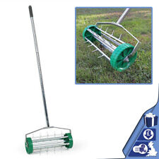 Gardening Lawn Aerator Grass Roller Adjustable to 3 Levels Telescopic Handle