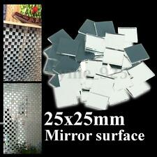 Mini 25mm 1'' Inch Small Square Glass Mirrors Bulk 100g Mosaic Tiles Tools