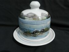 Lovely, Lochinver, Highland Stoneware Pottery, Landscape Design Cheese Dish.