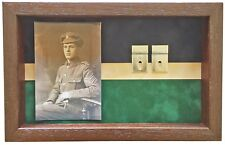 Large KOYLI Medal Display Case With Photograph For 3 - 4 Medals