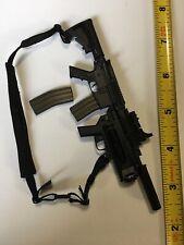 1/6 Scale Punisher AR-15 Machine Gun Grenade Launher Silencer Shoulder Harness