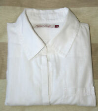 WHITE STUFF UK8 EU36 WHITE LONG-SLEEVED COTTON BLOUSE WITH BACK TIE