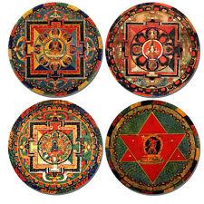Buddhist Mandala High Quality Cork Coasters Set Of 4 Buddha Buddhism Art Coaster