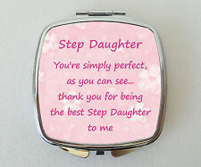 STEP DAUGHTER Compact Mirror Fun Handbag Beauty Cosmetic Makeup Novelty Gift