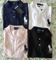 Polo Ralph Lauren Womens Big Pony Polo Shirt Skinny Fit Short Sleeve