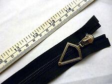 "Zip, Zipper 14""/ 36cm, Diamond Puller,Open End, Nylon YKK,Black"