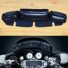3-Pocket Windshield Batwing Fairing Pouch Bag For Harley Electra Glide Touring