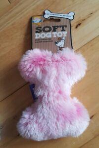 Good Boy - Puppy / Dog Small Fluffy soft Bone Toy - Pink