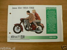 MVE45- JAWA 354 1954-1966 MINI POSTER AND INFO MOTORCYCLE,MOTORRAD