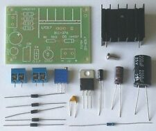 LM317 Adjustable Power Supply with Rectifier DIY Kit AC/DC Input - US Seller