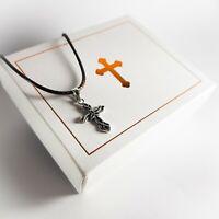 Genuine Sterling Silver Celtic cross pendant for Communion Baptism Gift for boys