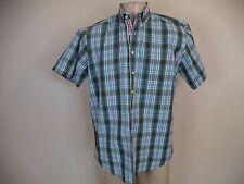 Men's Duomo Plaids & checks Casual Short Sleeve Shirt. Large. 100% Cotton.
