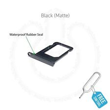 Vassoio porta schede SIM per Apple iPhone 7 nero opaco con Sim ejector Tool